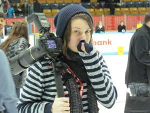 Jess Desjardins at the 2013 Clarkson Cup (Image obtained from: https://www.facebook.com/pages/Jess-Desjardins-Film-Photo/117476751726656)